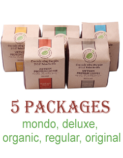 5 Packages 250g - VietNam Premium Coffee